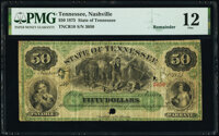 Nashville, TN- State of Tennessee $50 May 1, 1875 Cr. 10 Remainder PMG Fine 12, POCs