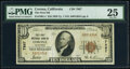 National Bank Notes:California, Corona, CA - $10 1929 Ty. 1 The First National Bank Ch. # 7867 PMG Very Fine 25.. ...