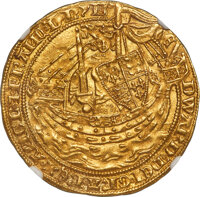 Great Britain: Edward III (1327-1377) gold Noble ND (1351-1352) MS64 NGC