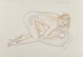 Works on Paper, Alberto Vargas (Peruvian/American, 1896-1982). My Lawyer Advises Me To Keep My Accounts Straight, playboy study. Waterco...