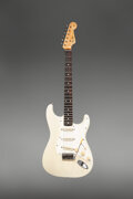 Musical Instruments:Electric Guitars, 1960 Fender Stratocaster Blonde Solid Body Electric Guitar, Serial #42685.. ...