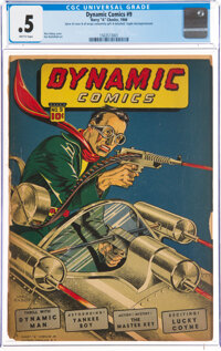 Dynamic Comics #9 (Chesler, 1944) CGC PR 0.5 Brittle pages