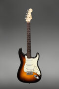 Musical Instruments:Electric Guitars, 1960 Fender Stratocaster Sunburst Solid Body Electric Guitar, Serial #43787.. ...