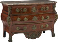 Furniture, A Régence-Style Gilt Bronze Mounted Commode with Marble Top. 35-1/2 x 48-1/2 x 24 inches (90.2 x 123.2 x 61.0 cm). ...