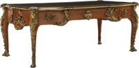 A French Louis XV-Style Gilt Bronze Mounted Bureau Plat After a Model by Jacques B. Dubois, 19th century 31-1/2 x 78 x 3...