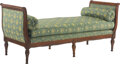 Furniture, A French Louis XV-Style Daybed with Green Napoleonic Upholstery. 31 x 71 x 27-1/2 inches (78.7 x 180.3 x 69.9 cm). ...