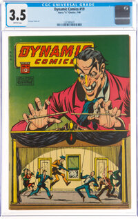 Dynamic Comics #19 (Chesler, 1946) CGC VG- 3.5 Brittle pages