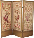 Furniture, A Three-Panel Petit Point Tapestry Floor Screen, 19th century. 68-1/2 x 87-3/4 inches (174.0 x 222.9 cm). ...