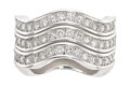Estate Jewelry:Rings, Cartier Diamond, White Gold Rings. ... (Total: 3 Items)