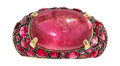 Estate Jewelry:Rings, Pink Tourmaline, Ruby, Pink Sapphire, Gold Ring. ...