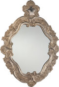 Furniture, A Spanish Colonial-Style Silver-Plated Mirror. 49 x 35 x 2 inches (124.5 x 88.9 x 5.1 cm). ...