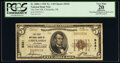 National Bank Notes:Oklahoma, Chickasha, OK - $5 1929 Ty. 1 The First National Bank Ch. # 5431 PCGS Apparent Very Fine 20.. ...