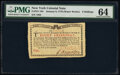 Colonial Notes:New York, New York January 6, 1776 (Water Works) 8s PMG Choice Uncirculated 64.. ...