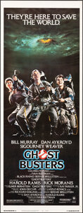 """Movie Posters:Comedy, Ghostbusters (Columbia, 1984). Rolled, Very Fine/Near Mint. Insert (14"""" X 36""""). Comedy.. ..."""
