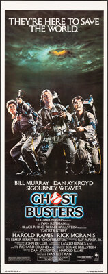 """Ghostbusters (Columbia, 1984). Rolled, Very Fine/Near Mint. Insert (14"""" X 36""""). Comedy"""