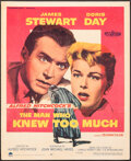 """Movie Posters:Hitchcock, The Man Who Knew Too Much (Paramount, 1956). Folded, Fine. Trimmed Window Card (14"""" X 17.25""""). Hitchcock.. ..."""