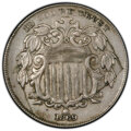 1869 5C Shield Nickel -- Shattered Die -- XF45 PCGS. From the Bruce M. Dutton Collection