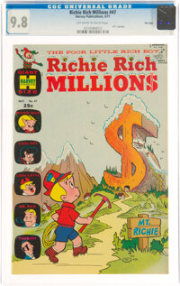 Richie Rich Millions #47 File Copy (Harvey, 1971) CGC NM/MT 9.8 Off-white to white pages