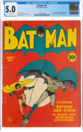 Golden Age (1938-1955):Superhero, Batman #6 (DC, 1941) CGC VG/FN 5.0 Off-white to white pages....