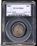 Proof Seated Quarters: , 1889 25C PR65 PCGS. With only 12,000 business strikes ...