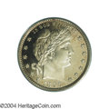 Proof Barber Quarters: , 1896 25C PR66 Cameo PCGS. Fully struck with deeply ...