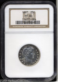 Proof Barber Quarters: , 1897 25C PR66 NGC. A lovely premium Gem with an exquisite ...
