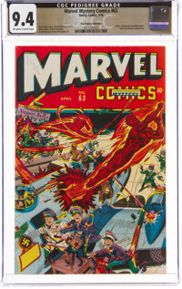Marvel Mystery Comics #63 The Promise Collection Pedigree (Timely, 1945) CGC NM 9.4 Off-white to white pages