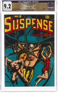 Suspense Comics #8 The Promise Collection Pedigree (Continental Magazines, 1945) CGC NM- 9.2 Off-white to white pages...