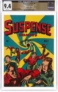 Suspense Comics #9 The Promise Collection Pedigree (Continental Magazines, 1945) CGC NM 9.4 White pages