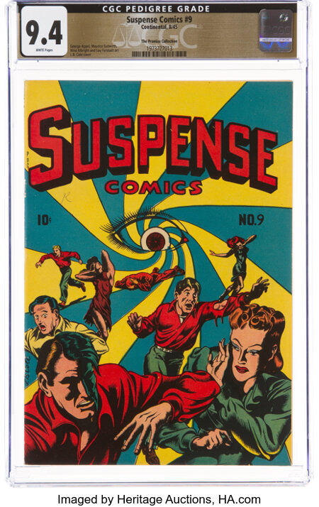 Suspense Comics #9 The Promise Collection Pedigree (Continental Magazines, 1945) CGC NM 9.4 White pages....