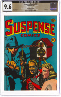 Suspense Comics #12 The Promise Collection Pedigree (Continental Magazines, 1946) CGC NM+ 9.6 Off-white to white pages...