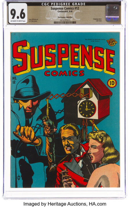 Suspense Comics #12 The Promise Collection Pedigree (Continental Magazines, 1946) CGC NM+ 9.6 Off-white to white pages....
