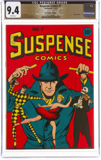 Suspense Comics #7 The Promise Collection Pedigree (Continental Magazines, 1944) CGC NM 9.4 White pages