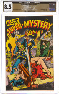 Super-Mystery Comics V6#3 The Promise Collection Pedigree (Ace, 1946) CGC VF+ 8.5 Off-white to white pages