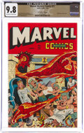 Golden Age (1938-1955):Superhero, Marvel Mystery Comics #71 The Promise Collection Pedigree (Timely, 1946) CGC NM/MT 9.8 Off-white to white pages....