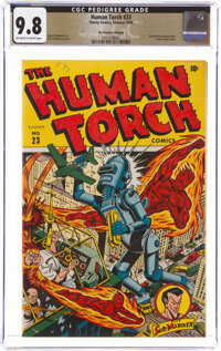 The Human Torch #23 The Promise Collection Pedigree (Timely, 1946) CGC NM/MT 9.8 Off-white to white pages