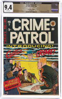 Crime Patrol #7 The Promise Collection Pedigree (EC, 1948) CGC NM 9.4 White pages