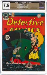 Detective Comics #58 The Promise Collection Pedigree (DC, 1941) CGC VF- 7.5 Cream to off-white pages