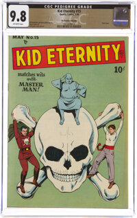 Kid Eternity #15 The Promise Collection Pedigree (Quality, 1949) CGC NM/MT 9.8 Off-white pages