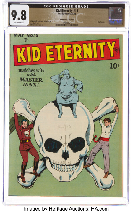 Kid Eternity #15 The Promise Collection Pedigree (Quality, 1949) CGC NM/MT 9.8 Off-white pages....