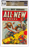 Golden Age (1938-1955):Superhero, All-New Comics #12 The Promise Collection Pedigree (Harvey Publications, 1946) CGC NM/MT 9.8 White pages....