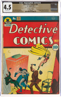 Detective Comics #39 The Promise Collection Pedigree (DC, 1940) CGC VG+ 4.5 Off-white pages