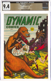 Dynamic Comics #21 The Promise Collection Pedigree (Chesler, 1947) CGC NM 9.4 Off-white to white pages