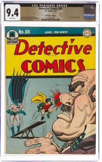 Detective Comics #88 The Promise Collection Pedigree (DC, 1944) CGC NM 9.4 White pages