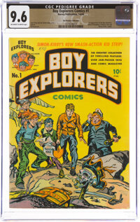 Boy Explorers Comics #1 The Promise Collection Pedigree (Harvey, 1946) CGC NM+ 9.6 Off-white to white pages