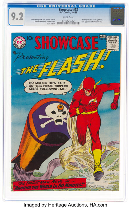 Showcase #13 The Flash (DC, 1958) CGC NM- 9.2 White pages....