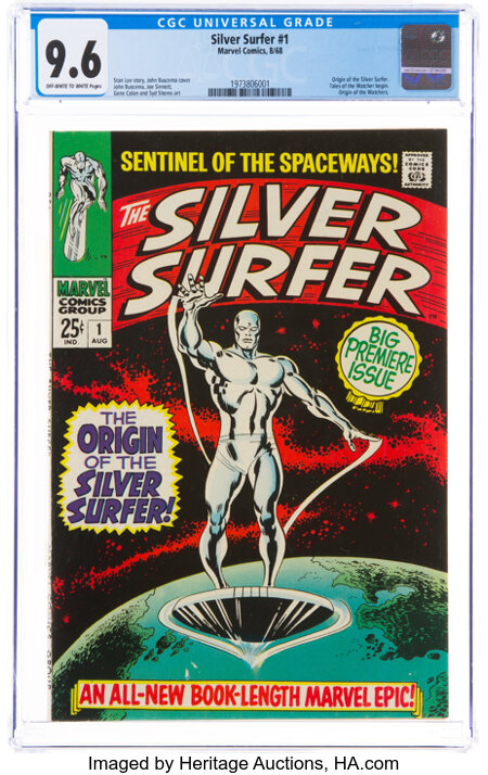 The Silver Surfer #1 (Marvel, 1968) CGC NM+ 9.6 Off-white to white pages....