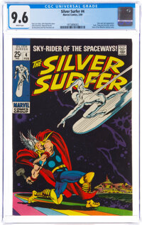 The Silver Surfer #4 (Marvel, 1969) CGC NM+ 9.6 White pages