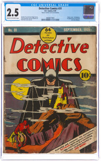 Detective Comics #31 (DC, 1939) CGC GD+ 2.5 Cream to off-white pages