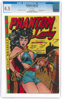 Phantom Lady #17 (Fox Features Syndicate, 1948) CGC VG+ 4.5 Pink pages